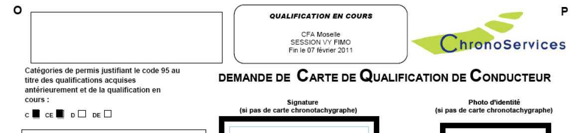 Carte De Qualification De Conducteur 95.Chronotachygraphe Fimo Fco